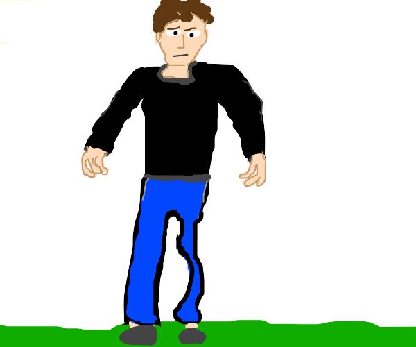 Guy skipped left leg day