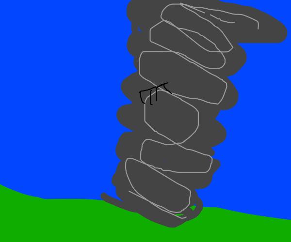 Comb in a Tornado