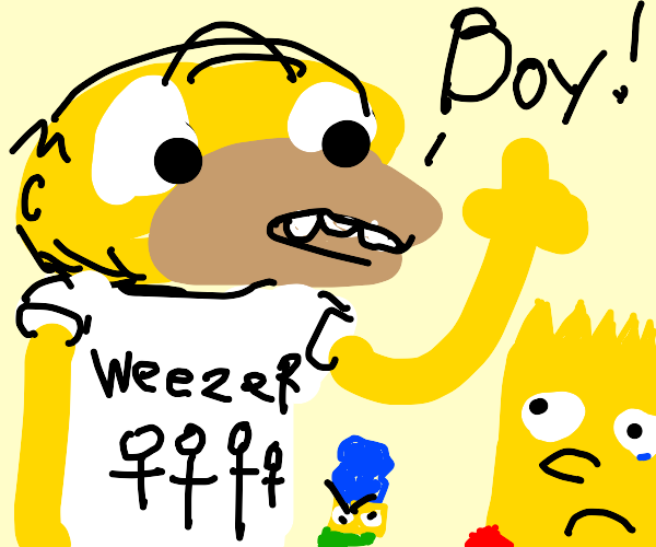 off brand homer says boy