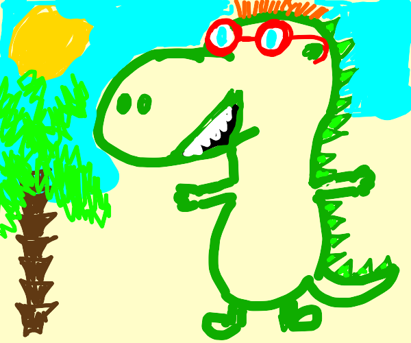 Dinosaur with Glasses