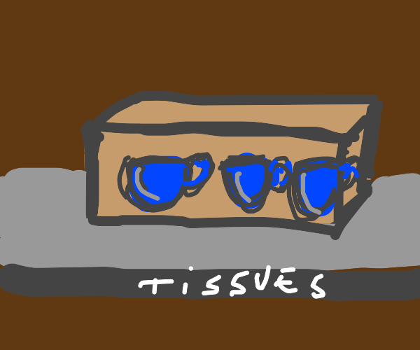 tissue box but the tissues are cups