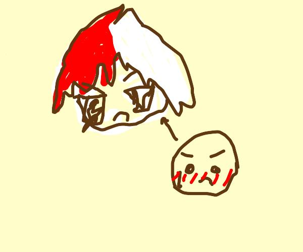 Angry todoroki