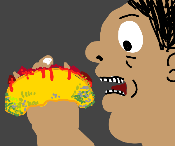guy eats moldy taco with human meat