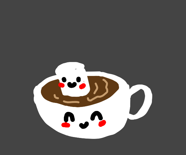Cute hot cocoa with a cute marsh mellow