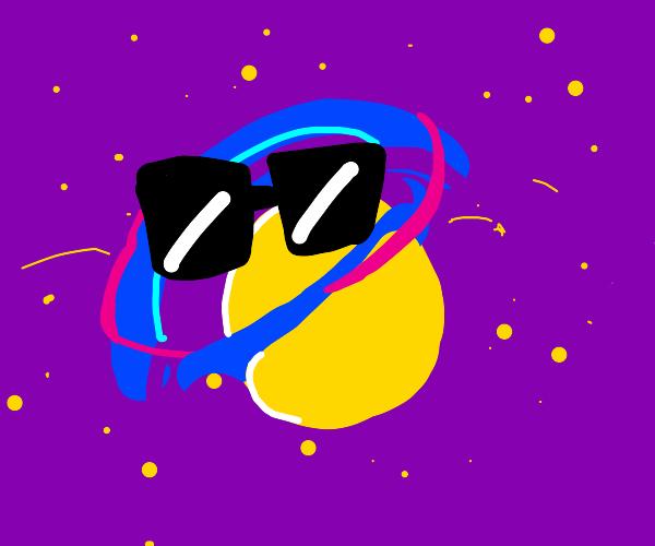 Galaxy in sunglasses