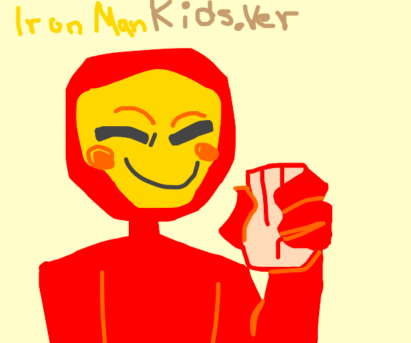 Iron Man Kindergarten Edition fighting a Palm