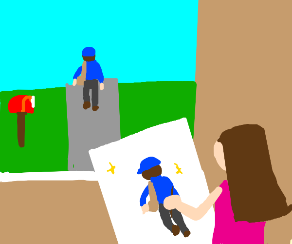She painted the mailman