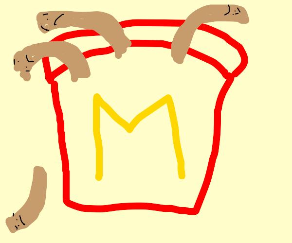 sad, brown mc donald fries