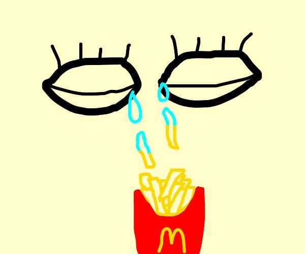 Crying McDonald's fries