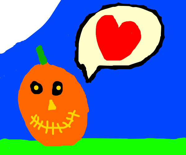 Jack-o'-lantern talks about being in love