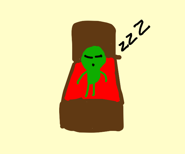 Sleeping alien
