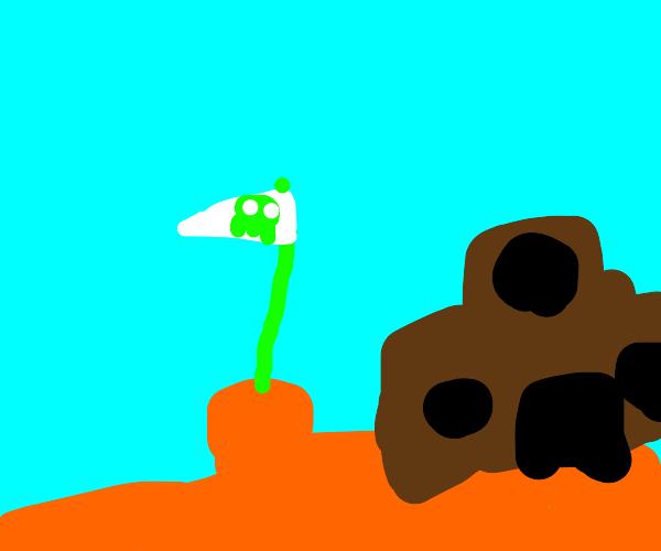 Mario bros 1 castle and flag
