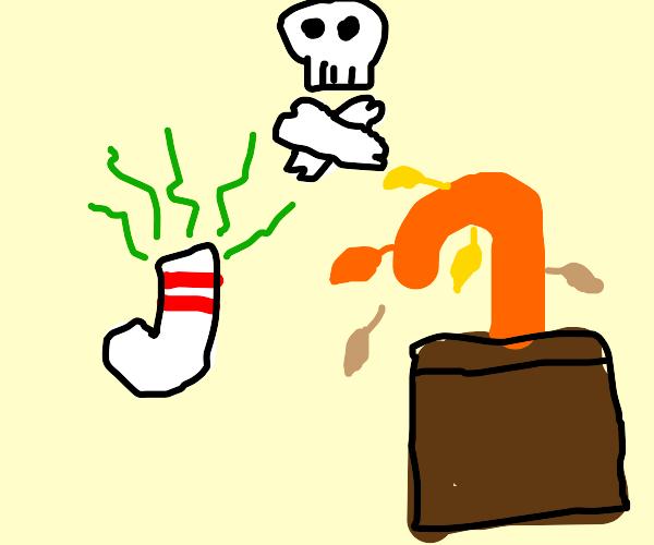 stinky sock kills houseplant