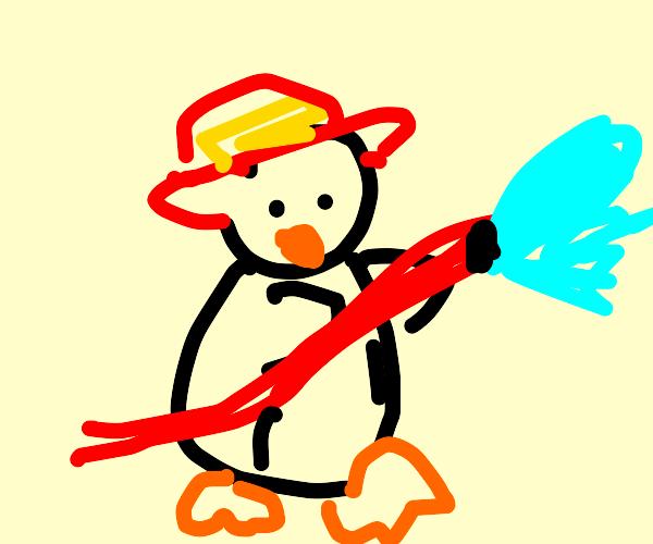 Penguin fire fighter