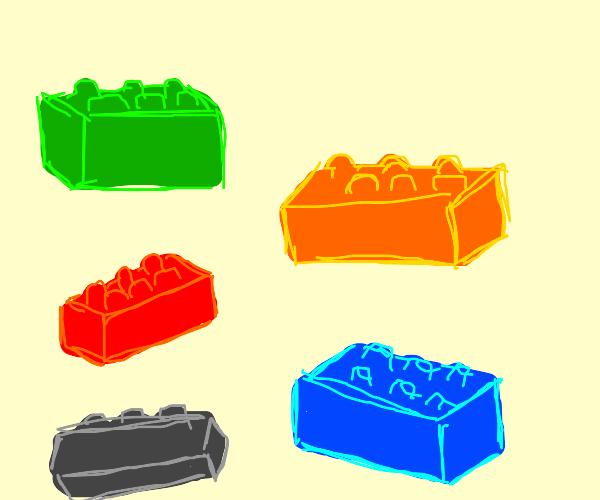 5 Lego blocks