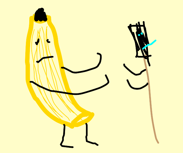 reed fights giant banana