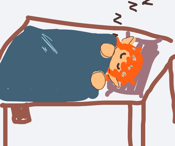 Elf Boy taking a nap
