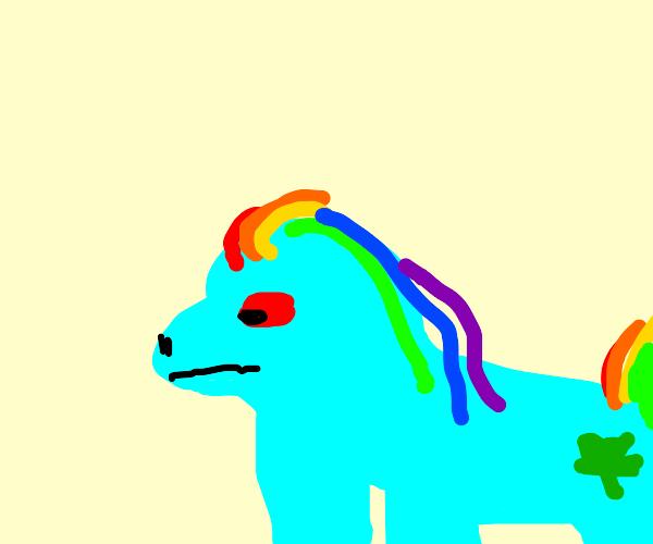Rainbow Dash gets high
