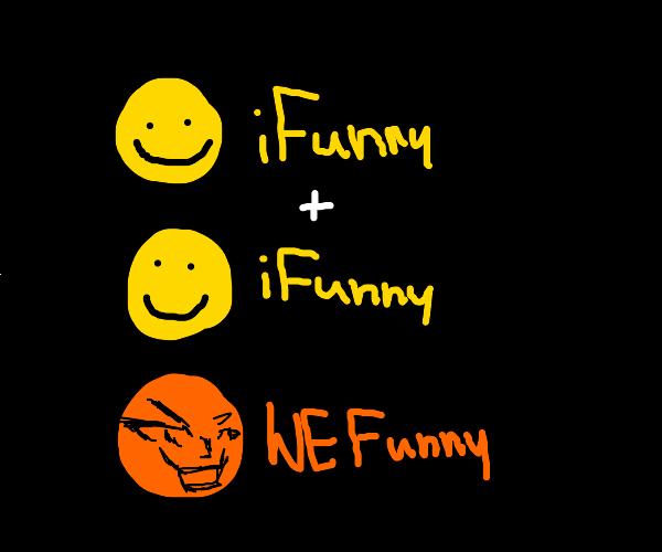 ifunny logo 1+1=2