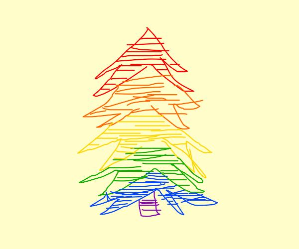 Rainbow pine tree