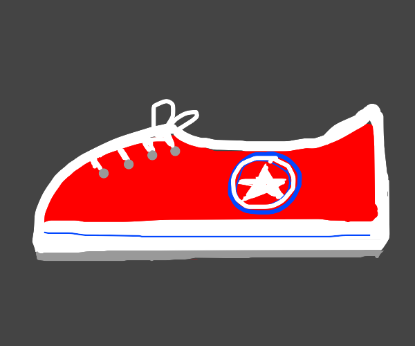 Basic red Converse All-Star shoe