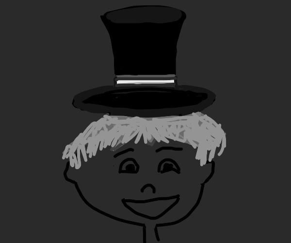 Happy man in top hat