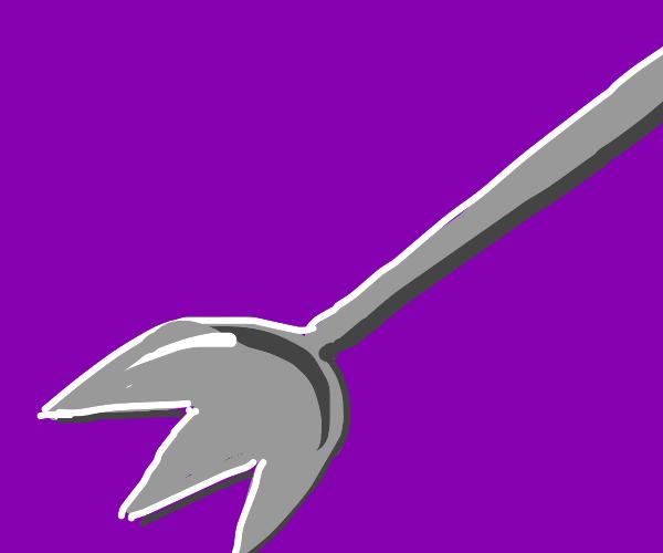 a threek (three prong fork) doesn't matter