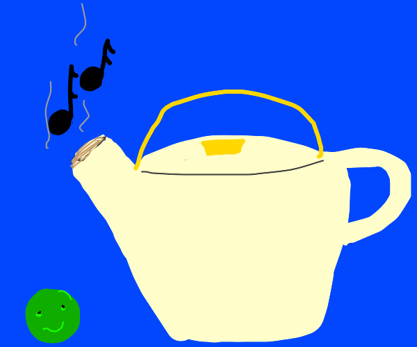 Pea likes tea pots music
