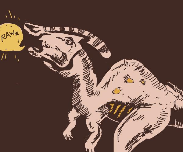 Dinosaur saying rawr