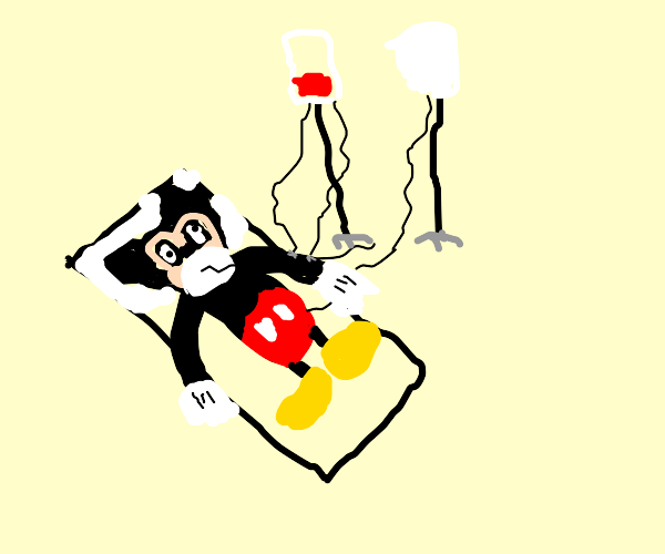 mickey mouse on life support