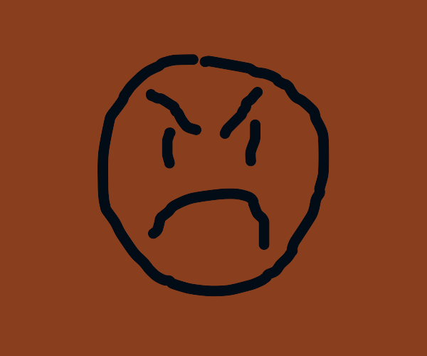 angry face emote