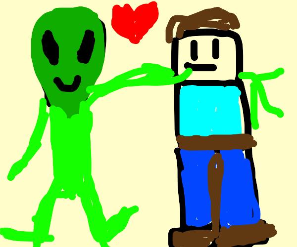 Alien loves an armless man