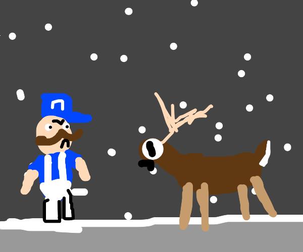 Bootleg Luigi angry at Rudolph