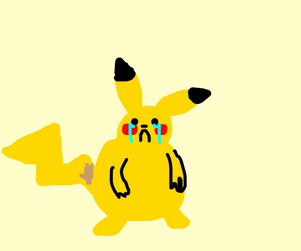 Pikachu is fat and sad