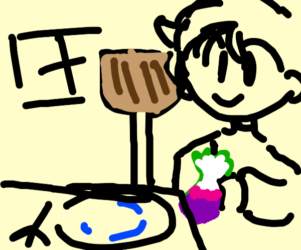 Janitor eating a Turnip