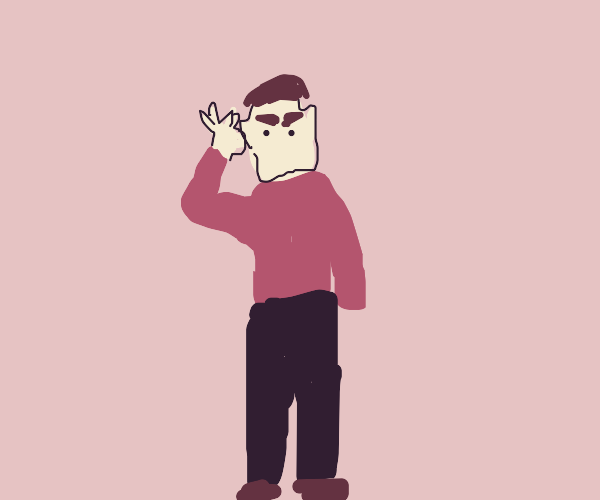 Spock in a red shirt
