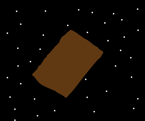 Space with a piece of cardboard