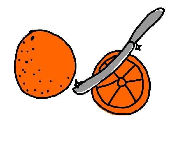 cutting oranges