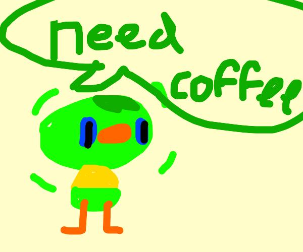Jitters (Animal Crossing) needs coffee