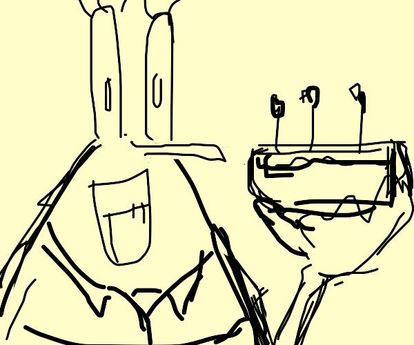 Mr. Krabbs got dat cake.