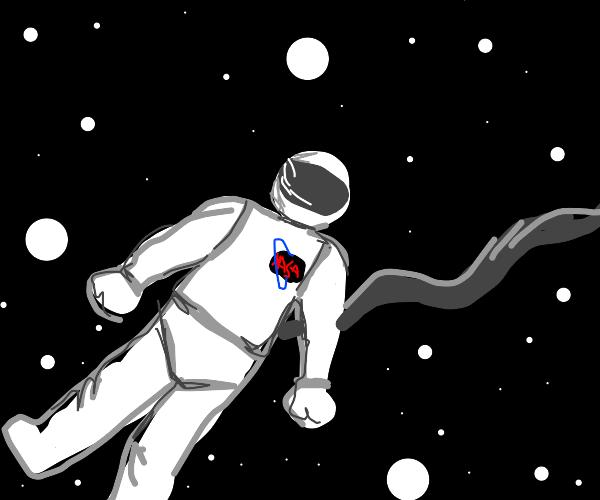 Astronaut Flying