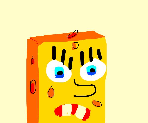 VERY angry spongebob