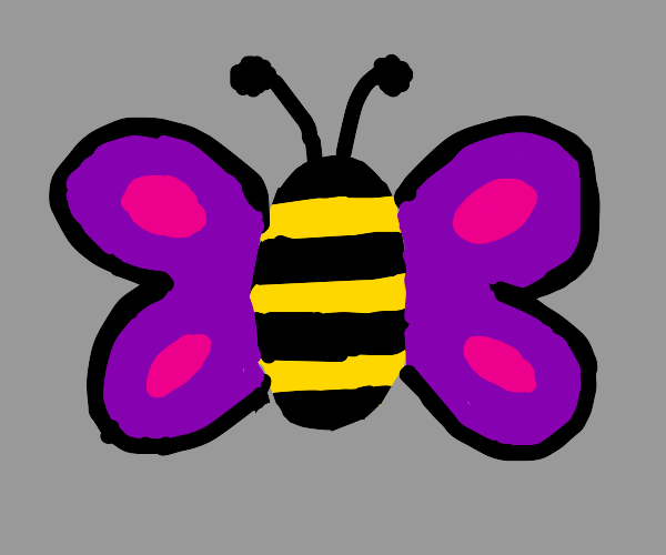 Bee and butterfly hybrid