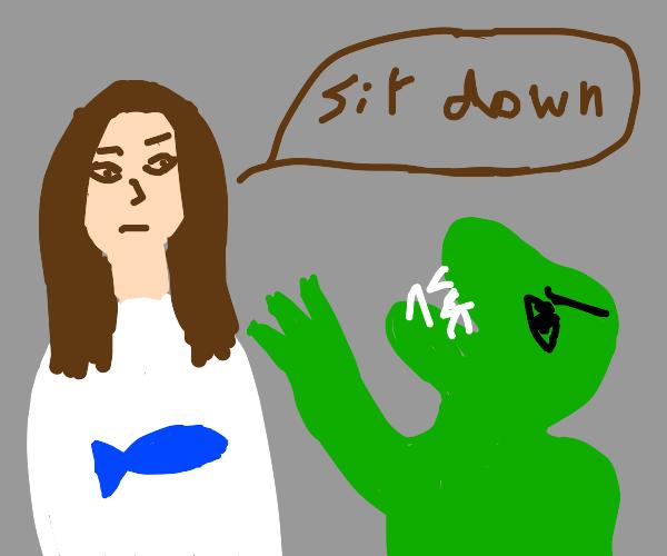 Jesus orders dinos to sit