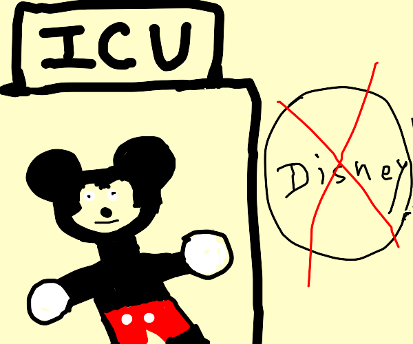 Mickey in ICU after Disney shuts down