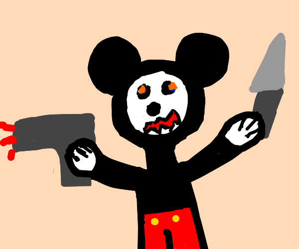 Deranged Mickey Mouse