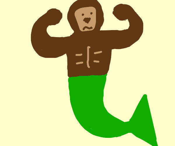 Primate mermaid hybrid