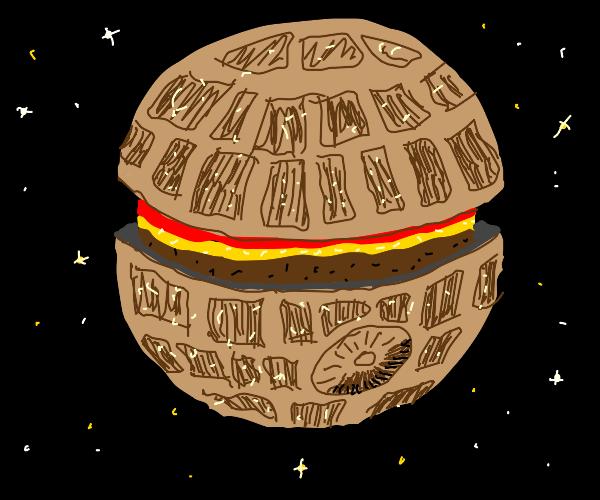 Death Star cheese burger