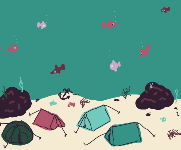 camp under the sea