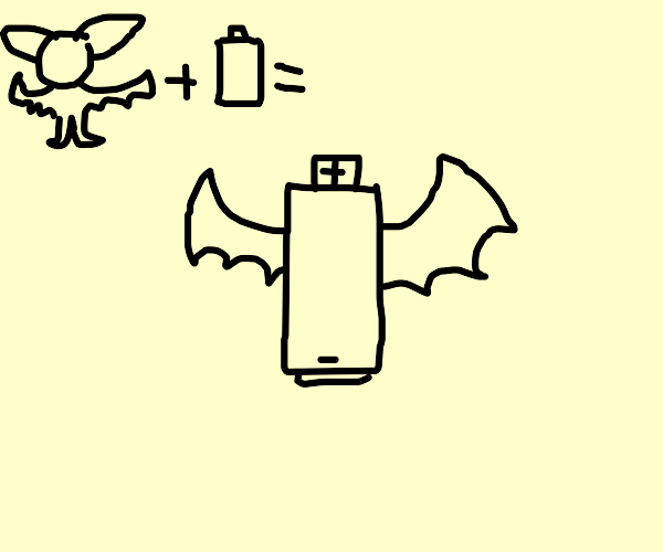 Bat-winged battery